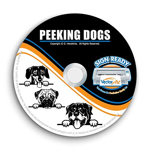 (Peeking Dog Clipart-Vector Clip Art-Vinyl Cutter Plotter Images-T-Shirt Graphics CD)