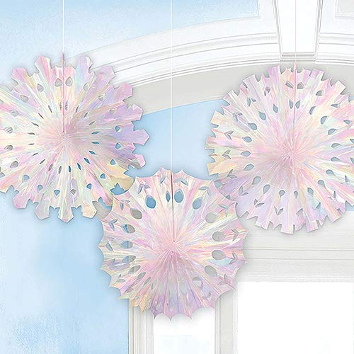 amscan Christmas Honeycomb Snowflakes, 3 Ct by amscan