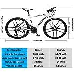 JXH-26-Bici-Pollici-di-Montagna-Doppio-Freno-a-Disco-per-Mountain-Bike-Hardtail-Uomo-Bicicletta-Sedile-Regolabile-ad-Alta-Acciaio-al-Carbonio-Telaio-21-velocit-Bianco-10-RazzeYellow-26in