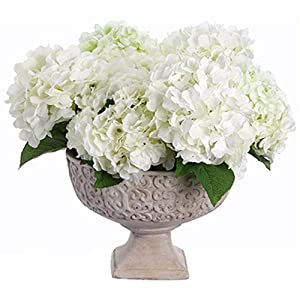 "21"" Hx21 W Hydrangea Silk Flower Arrangement -White 26"