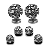 CUFFLINKS INC 3D Death Star II Stud Set (Silver)