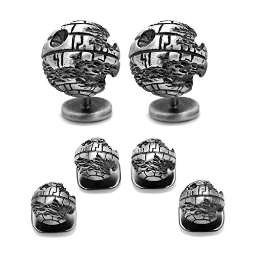 CUFFLINKS INC 3D Death Star II Stud Set (Silver) by Star Wars