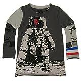 mini shatsu - Mini Shatsu Little Boys Grey Astronaut Skater Screen Print Twofer Shirt 7