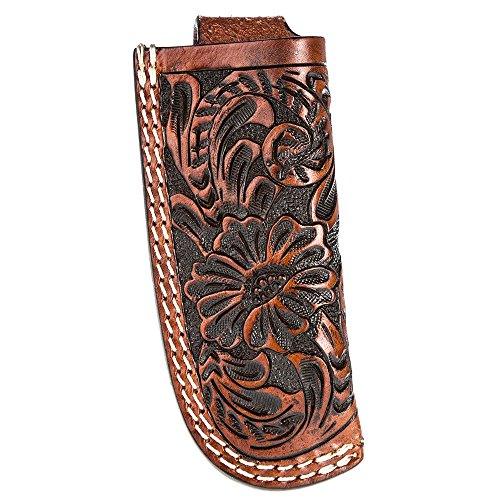 Western Fashion Tack Floral Cognac Knife Sheath