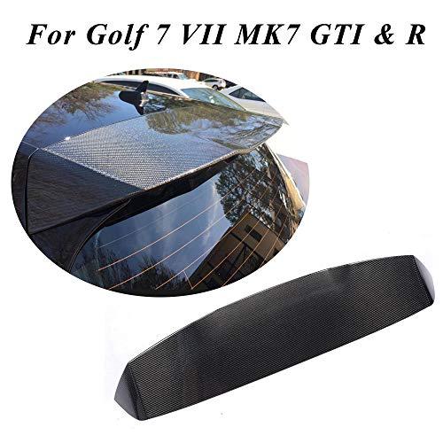 JC SPORTLINE Compatible with Volkswagen VW Golf Carbon Fiber Rear Roof Spoiler CF Window Top Wing (Golf 7 MK7, GTI & -