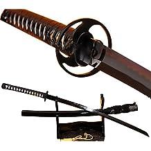 Lyuesword Japanese Katana Sword Real Clay Tempred Katana Cold Steel Sword Razor Sharp
