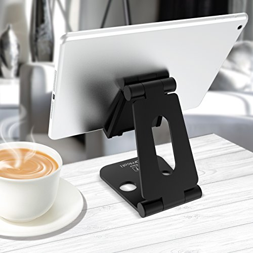 Multi-Angle Stand for Nintendo Switch, Lamicall Playstand : Cell Phone Tablet Video Game Holder Dock Compatible with Phone 7 6 Plus 5, Accessories, iPad and Tablets (4-10'') Foldable Adjustable- Black by Lamicall (Image #7)