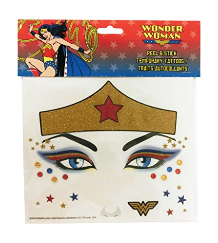 Wonder Woman Peel and Stick Face Tattoos]()