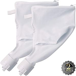 2 Pack Pool Cleaner All Purpose Zippered Bag Replacement Fits for 360, 380 All Purpose Bag 9-100-1021, 9-100-1014, Heavy Duty Pool Vacuum Cleaner/Filter Part