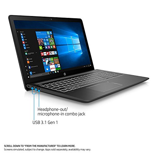 HP Pavilion 15t Premium Gaming and Business Power Laptop PC ( Intel i7 Quad Core, 8GB RAM, NVIDIA GeForce 1050 2GB, 1TB HDD + 128GB SSD, 15.6'' FHD (1920 x 1080), WiFi, Bluetooth, Win 10 Home) 1GK62AV by MichaelElectronics2 (Image #1)