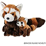 "Birth of Life Red Panda with Baby Plush Toy 11"" H"