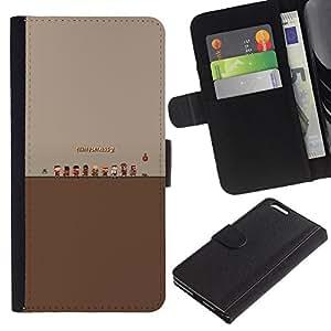 KLONGSHOP // Tirón de la caja Cartera de cuero con ranuras para tarjetas - Tf Fortress 2 Juego - Apple Iphone 6 PLUS 5.5 //