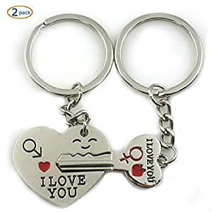 World Pride Key to My Heart Cute Couple Keychain Love Keychain Key Ring