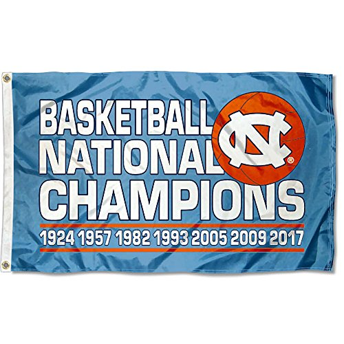 College Flags and Banners Co. University of North Carolina 7 Time Basketball Champions Flag ()