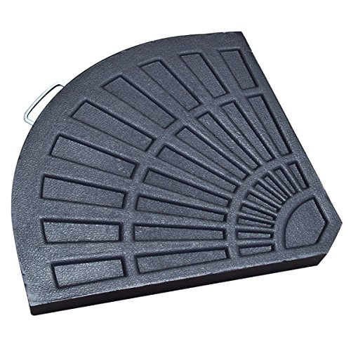Patio UmbrellaBases Resin Plate Secure Carry Handle