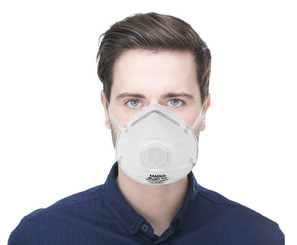 15 Pack of Valve N95 Particle Respirators. White Disposable Breathing masks. Premium Quality protective mask. Heavy duty particulate respirator. One size fits all. Soft, Breathable, Lightweight.