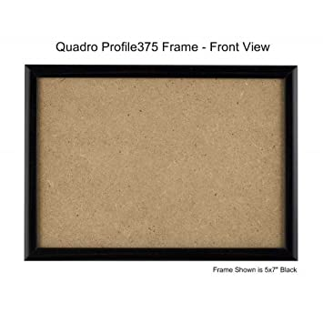 Quadro Frames 6x9 inch Picture Frame, Black, Style P375-3/8 inch Wide  Molding (1)