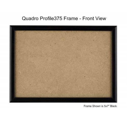 (Quadro Frames 7x10 inch Picture Frame, Black, Style P375 - 3/8 inch Wide Molding)
