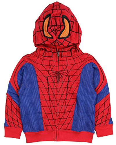Marvel Little Boys' Spiderman Lil Petey Costume Hoodie (2T)