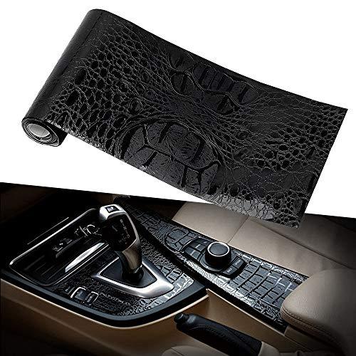 Tamiko 15010cm Car Sticker Film Leather Texture UV Protected Simulation Crocodile Black Motorcycle Styling Auto Interior Decoration