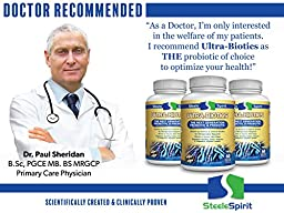 Probiotics & Prebiotic Probiotic Supplement - Ultra-Biotics - Dr Recommended - Feed Your Immune System & Support Your Digestive Health - 60 Delayed Release Caps - By Steele Spirit
