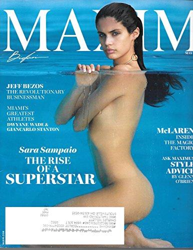 Maxim Magazine  May  2016  Sara Sampaio Cover