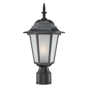 Acclaim 6117BK Camelot Collection 1 Light Post Mount Outdoor Light Fixture,  Matte Black