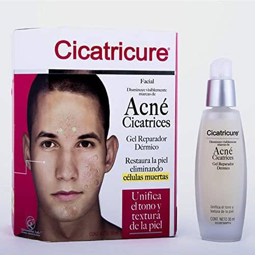 Cicatricure Visibly Decreased Facial Acne Marks, Scars, Repairing Dermal Gel. Restores the Skin, Removes Dead Cells. Unifies the Tone and Texture of the Skin