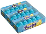 Marshmallow Peeps Blue Chicks, 4.5-Ounce, 15-Count Boxes (Pack of 6)