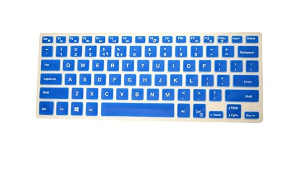 PcProfessional Blue Ultra Thin Silicone Gel Keyboard Cover for Dell Inspiron 17 5000 Series 17.3 Laptop with Application Kit Please Compare Keyboard Layout and Model