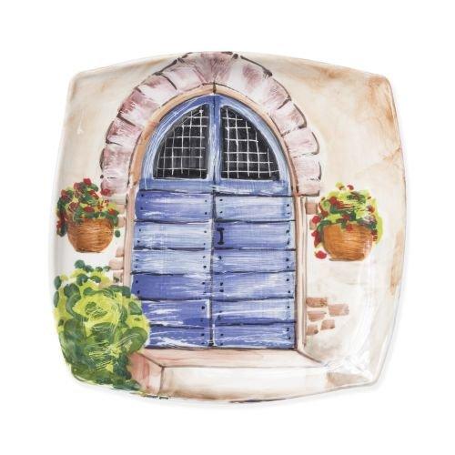 (Vietri Landscape Wall Plates Blue Door Wall Plate)