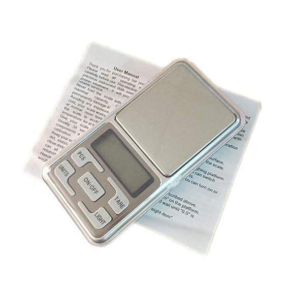 Xiaochou@sl Balanza de pesaje móvil de 100 g x 0,1 g de balanza portátil Digital Digital de Alta precisión con Pantalla LCD de 1,6 Pulgadas, tamaño: 12.0 ...