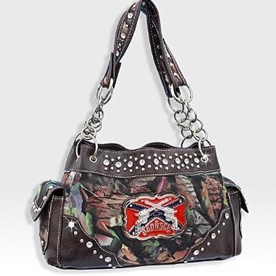 db855ddc8d Brown Camo Western Pistol Gun Redneck Fashion Purse  Handbags  Amazon.com
