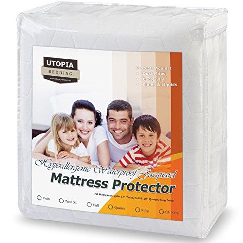 Utopia Bedding Waterproof Mattress Protector
