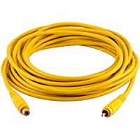 Seismic Audio SA-PGSR25Yellow 25 Foot Yellow RCA Male to RCA Female Audio Extension Cable AV RCA Extender Cord