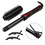 Huachi Curling Iron Hot Brush Ceramic Ionic Irons Hair Curling Wand 1 1/4 Inch Professional Hair Curler 2 IN 1 Salon High Heat Curling Brush, 1 Inch, Black For Sale