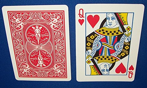 Red Back Bicycle Playing Card Force Deck (Hearts, Queen)]()