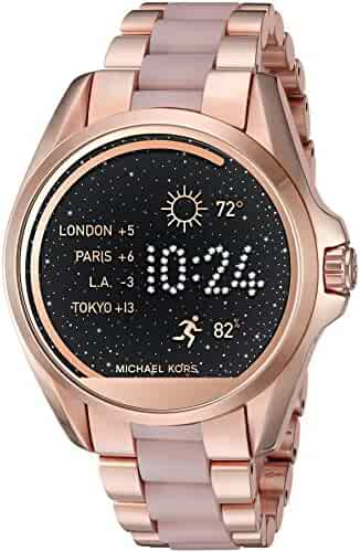 Michael Kors Access Touch Screen Rose Gold Acetate Bradshaw Smartwatch MKT5013