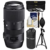 Sigma 100-400mm f/5.0-6.3 Contemporary DG OS HSM Zoom Lens with 3 Filters + Tripod + Pouch + Kit for Canon EOS DSLR Cameras
