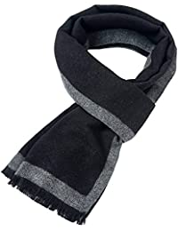 Mens Soft Scarf For Autumn And Winter,Simple And Elegant Long Thick Plush Scarf
