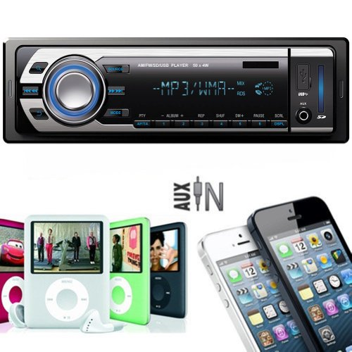 Car Audio Stereo In-dash Mp3 Player Radio & USB Sd WMA AUX I