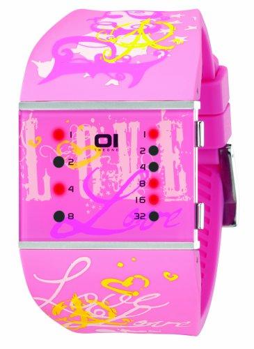 01TheOne Women's SLSL138R3 Slim Square Classic LED Watch