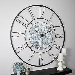 FirsTime & Co. 31034 Fulshaw Gears Wall Clock, 36, Black