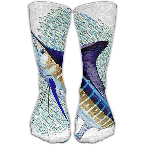 Marlins Man Halloween Costume (Free Marlin Women & Men Socks Knee High Long Soccer Sport Tube Stockings Length 30cm)