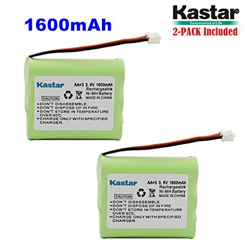 Kastar 2-PACK AAX3 3.6V 1600mAh EH Ni-MH Rechargeable Battery for Vtech, Motorola, Radio Shack, Sanyo Series Cordless Phone (Check your Cordless Phone Model down) - Mh Series