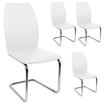 Esszimmerstühle modern weiß  SVITA Esszimmerstuhl 4er Set Stühle Modern Freischwinger ...