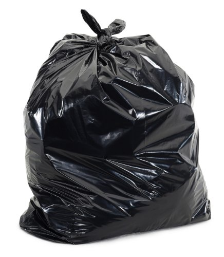 Plasticplace Black 25-30 Gallon Trash Bags 30'' x 36'' 100/Case 2.0 Mil by Plasticplace