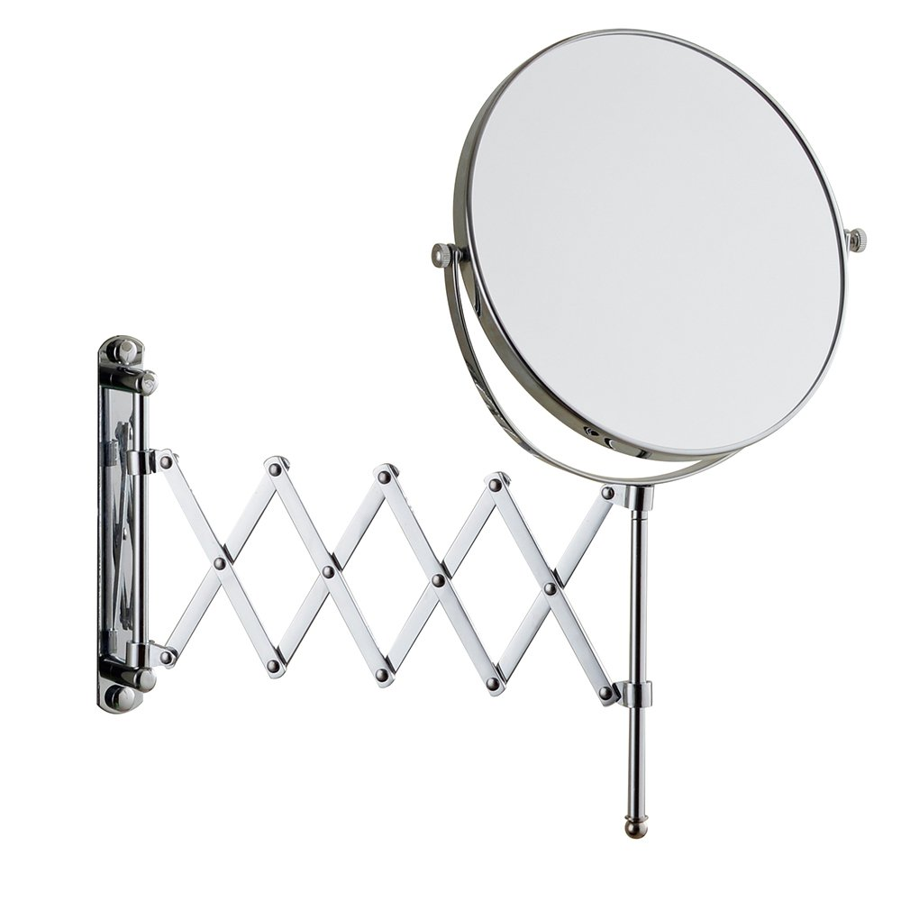 Cavoli 6 Inches Double-sided Wall Mount Scalable Mirror with 3x Magnification,Chrome Finish(6 inch,3x)