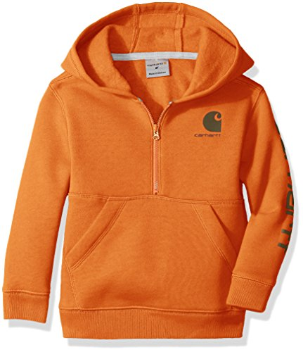 Carhartt Boys' Logo Fleece Half Zip Sweatshirt, Puffin's Bill, 12 Months