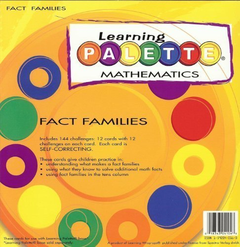 1st Grade Math Fact Families Learning Palette ()